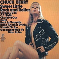 "CHUCK BERRY 1974 Pickwick Budget ""Re-recorded hits"" Sleeve. New English Library style pic & font! Pic Font, Rock N Roll, Used Records, Celia Birtwell, John Luke, Rock And Roll Fashion, Milton Glaser, It Hurts Me, Chuck Berry"