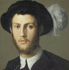 Bronzino, Portrait of a Young Man, 1550-55, detail, Kansas City, Nelson Atkins Museum of Art