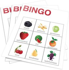 Teach Kids the Fruits of the Spirit With This Fun Bingo Game. Perfect for: -Children's Church -Sunday School -Homeschool -Christian Education Sunday School Lessons, Sunday School Crafts, Childrens Ministry Deals, Children Ministry, Ministry Ideas, Bingo Games For Kids, Spirit Game, Bible Games, Bible Activities