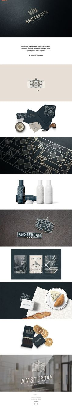 Amsterdam | Logo and brand identity for the project, that more then hotel, bar, restaurant or even a city. Odessa, Ukraine | Worth Agency