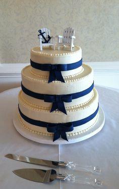 ... nautical cake with 2 adirondacks