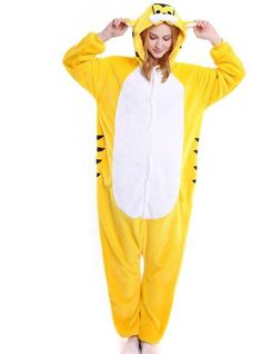 2d57792ff1 Yellow tiger onesies animal pajamas one sleepwear