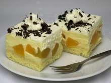 Krémové broskyňové rezy Florida, Cheesecake, Baking, Recipes, Food, Hampers, Reposteria, Peach, Tray Bakes