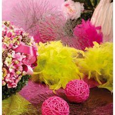 Boule en plumes décorative 10 cm - 6 Couleurs, baby shower, idée déco, baptême, anniversaire, birthday party.