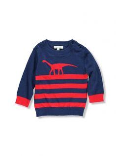 Mix Apparel - Collection - Stripe Dinosaur Knit