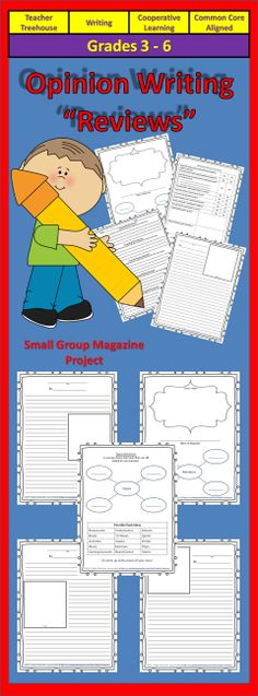 This is a wonderful, simple and organized unit for teaching opinion writing! Students participate in a cooperative learning experience by creating a magazine together!