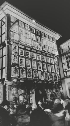 Christmas market in the old town of Hattingen - Germany. A big advent calender in front of a house. #Hattingen #christmasmarket #christmas #lights #adventcalender