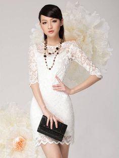 New Women Clothing Bodycon Peplum Flower Camisole Lace Dress Floral Vestidos Slash o-neck Sexy Short Mini Dress Black White - OK Fashion
