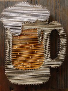 Mini Beer Bar Sign String Art on Recycled Timber by 8thAveProject