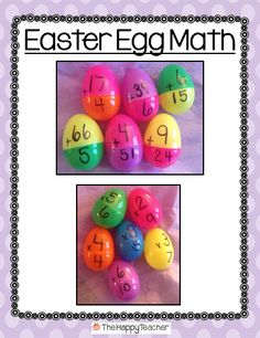 Fun and educational Easter activities! Easter activities Egg-cited for Easter! Easter Activities, Holiday Activities, Math Activities, Math Resources, Kindergarten Centers, Math Centers, Learning Centers, Printable Classroom Posters, Classroom Ideas