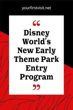 Disney World Tips: How to take advantage of the new early theme park entry program that starts October 1, 2021: who is eligible, what the benefits are, and other details | yourfirstvisit.net #disneyworldtips Disney World Deals, Disney World Attractions, Disney World Tickets, Disney World Vacation Planning, Disney World Theme Parks, Disney World Florida, Walt Disney World Vacations, Disney World Tips And Tricks, Disney Tips