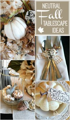 Gorgeous Neutral Fall Tablescape Ideas on Design Dazzle