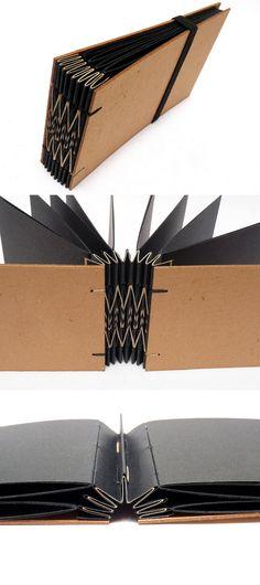 Handmade book with black pages. Handmade Journals, Handmade Books, Mini Albums, Diy Kalender, Album Book, Book Binding, Book Journal, Scrapbook Albums, Altered Books
