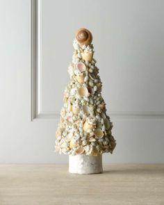 Alberi di Natale creativi - Albero di Natale con conchiglie