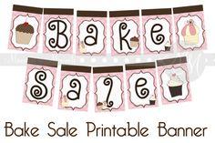 Bake Sale Banner Printable
