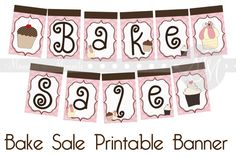 Bake Sale Banner Printable