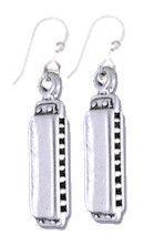 Harmonica Sterling Silver Earrings