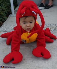 Sebastian costume. Mermaid Ariel & Sebastian - Homemade costumes for kids
