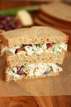 Dill Chicken Salad Sandwiches