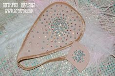 Burlesque Pasties and more by Gothfox Designs: Burlesque Merkins - C-string Style