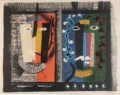 John Piper, Foliate Heads II, 1953, lithograph, ed. 70, signed, 49.2 x 63 cm.