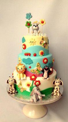 Detská torta plná zvieratiek:) Matejko musel od radosti výskať!:) Autorka: maria285 - Tortyodmamy.sk