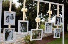 Decoração para bodas de prata com fotos do casal