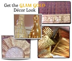 Glam Gold decor look