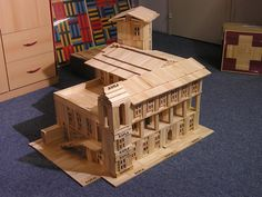 Wooden Building Blocks, Reggio Emilia, Miniature Houses, Jenga, Pallet, Architecture Design, Miniatures, Abstract, Toys