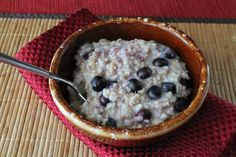 Blueberry and lemon steel cut oats. 225 calories and 6 weight watchers points plus