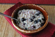 Blueberry lemon steel cut oats recipe.