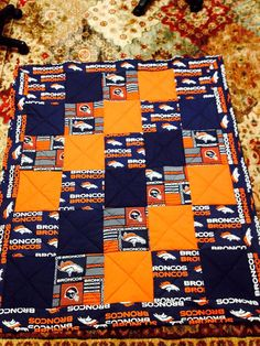 Denver Bronco quilt by TiggerApproved on Etsy