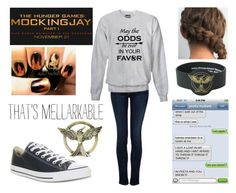"""""""Just Saw """"Mockingjay Part 1"""" Last Night!"""" by ashley-raulston ❤ liked on Polyvore featuring Koral, Converse, Hungergames, Mockingjay and 197"""