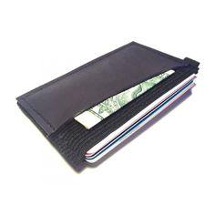 Ultra Slim 4 compartment Minimalist Front Pocket Leather Wallet & Card Holder 'Ultraz-4L Dark Blue'