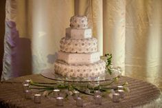 Elegant Rhinestone Wedding Cake, White Wedding Cake, Southern Event Planners, Memphis Weddings