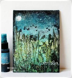 My Craft World: Mixed media canvases using 2Crafty Chippies