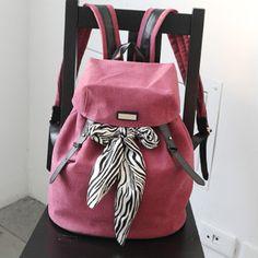 Chic backpacks for women in silk scarves
