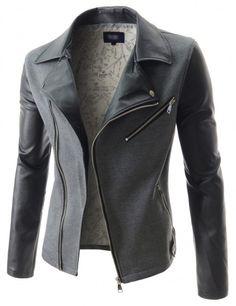 Doublju - Jaqueta Masculina Slim Rider Compre roupas de qualidade, com design inovador e preço justo!