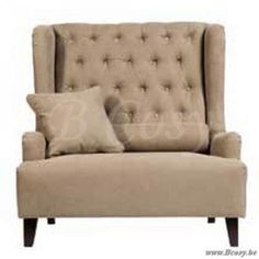 Lee&Lewis Baltimore Sofa Knopen 1,5 Zit 115 met Cat A stof en met Eiken Poten