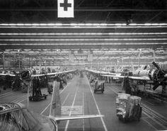 Republic P-47D Thunderbolt  view of production line, 1944. by aeroman3, via Flickr