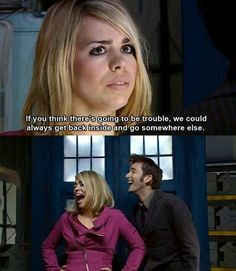 """this is an example of why Reinette drove me nuts with her condescending """"we both know the doctor is worth the monsters"""" speech, because you obviously don't understand Rose Tyler. the monsters are like the best part! <-- YES!"""