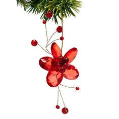 Red flower ornaments for Valentine's Day Tree - Holly Day