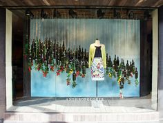 Spring window display, fashion window display, window display design, s Spring Window Display, Fashion Window Display, Christmas Window Display, Window Display Design, Shop Window Displays, Display Windows, Christmas Backdrops, Store Displays, Visual Merchandising