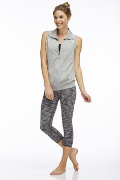South Beach - The Temecula Vest comes complete with open mesh panels, and the Salar Capri moves along with you and your workouts. www.fabletics.com