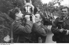 German soldiers with horse.France June 1944.