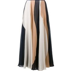 ROKSANDA Ashford Curved Stripe Maxi Skirt ❤ liked on Polyvore featuring skirts, high-waist skirt, high-waisted skirts, long midi skirt, print midi skirt and print maxi skirt
