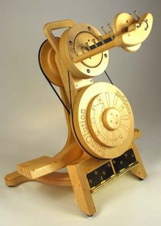 """Spinolution Hopper spinning wheel. I love odd looking wheels. This would look awesome """"steampunked"""""""