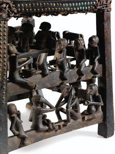 TRÔNE, CHOKWE, ANGOLA | CHOKWE CHAIR, ANGOLA | Arts d'Afrique, d'Océanie, d'Indonésie et des Amériques | Sotheby's Arts, Wood, Portugal, Collection, Drink Beer, Baboon, Africa, Kunst, Woodwind Instrument