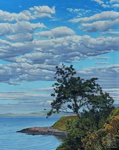 Ron Parker - Leaning Tree - oil on canvas - 30 x 24