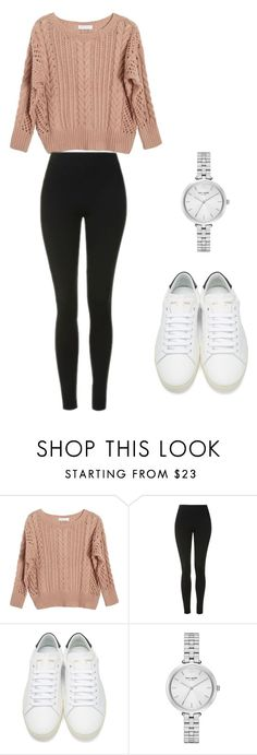 """Untitled #17"" by sandranlara on Polyvore featuring Ryan Roche, Topshop, Yves Saint Laurent and Kate Spade"